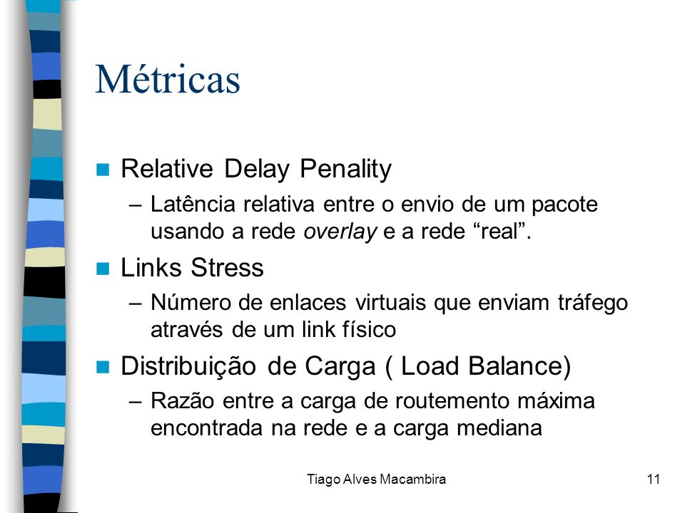 Métricas Relative Delay Penality Links Stress