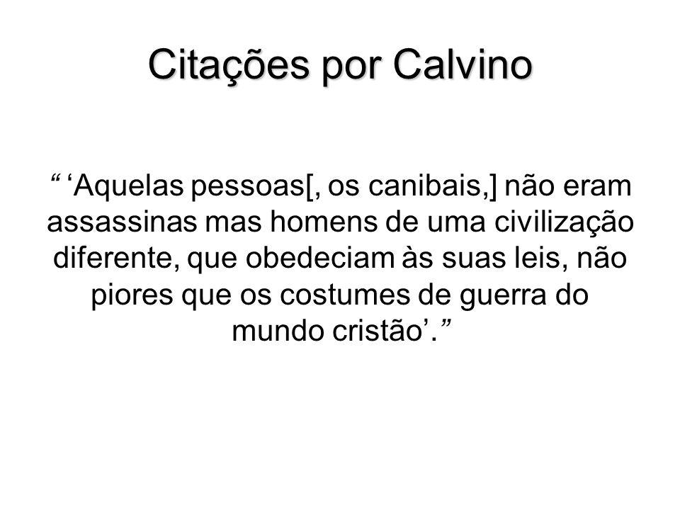 Citações por Calvino
