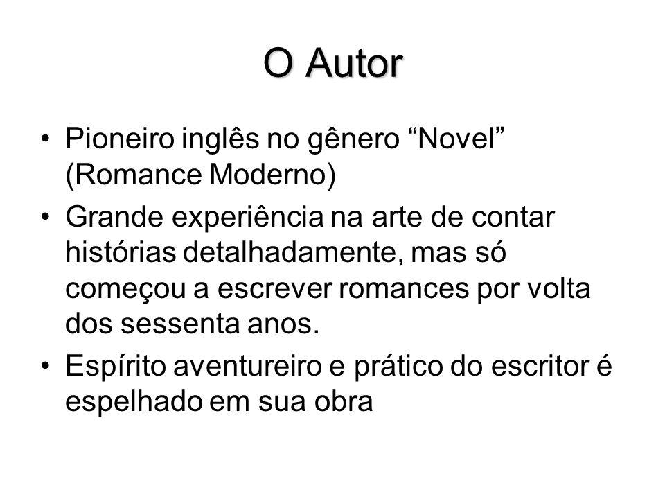 O Autor Pioneiro inglês no gênero Novel (Romance Moderno)