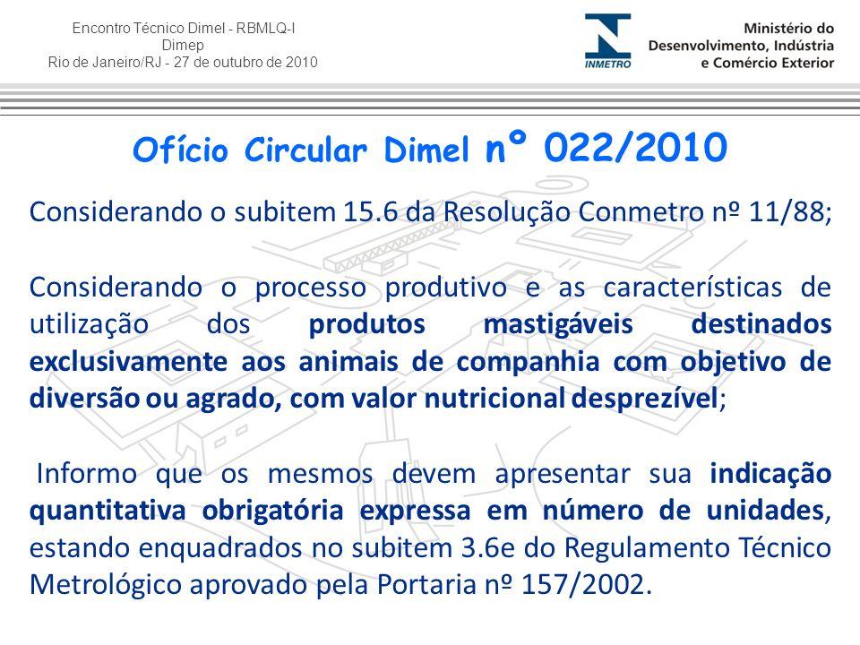 Ofício Circular Dimel nº 022/2010