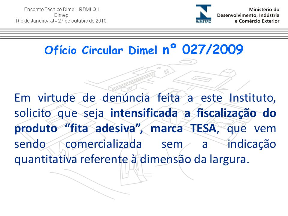 Ofício Circular Dimel nº 027/2009