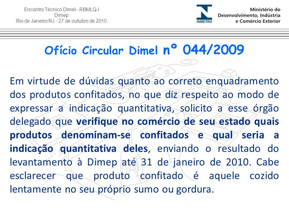 Ofício Circular Dimel nº 044/2009
