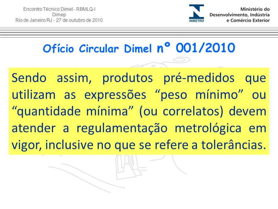 Ofício Circular Dimel nº 001/2010