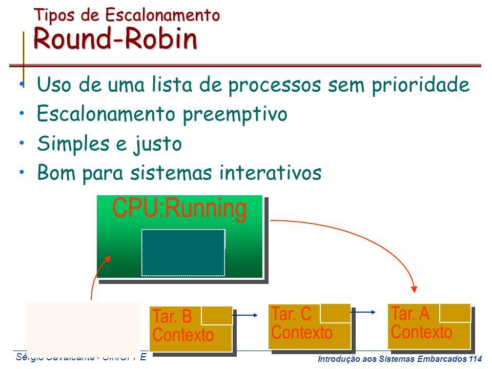 Tipos de Escalonamento Round-Robin