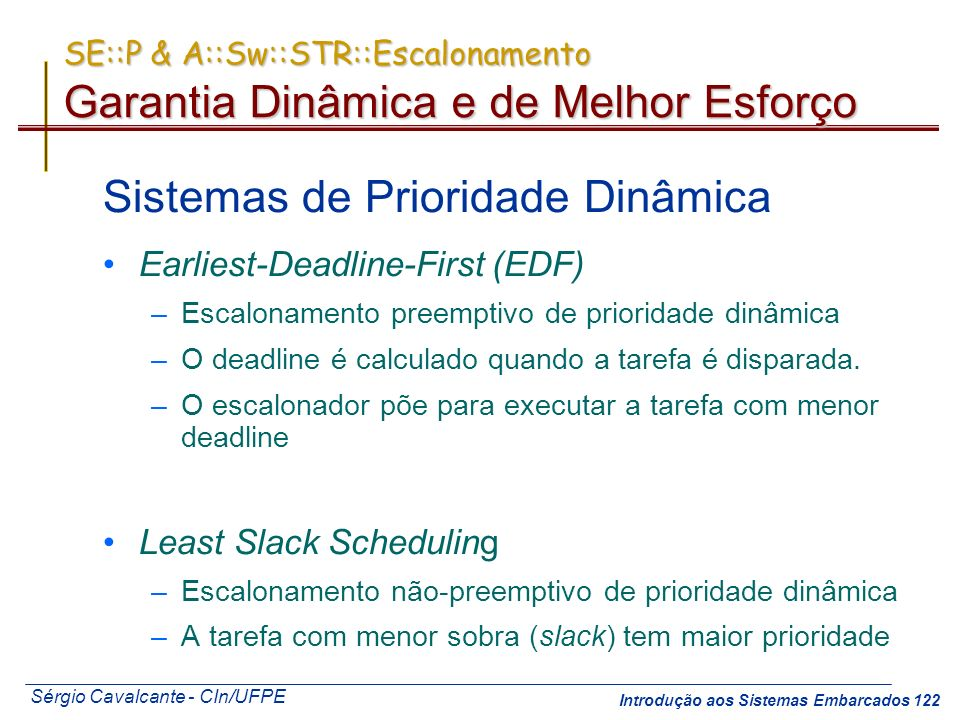 Sistemas de Prioridade Dinâmica