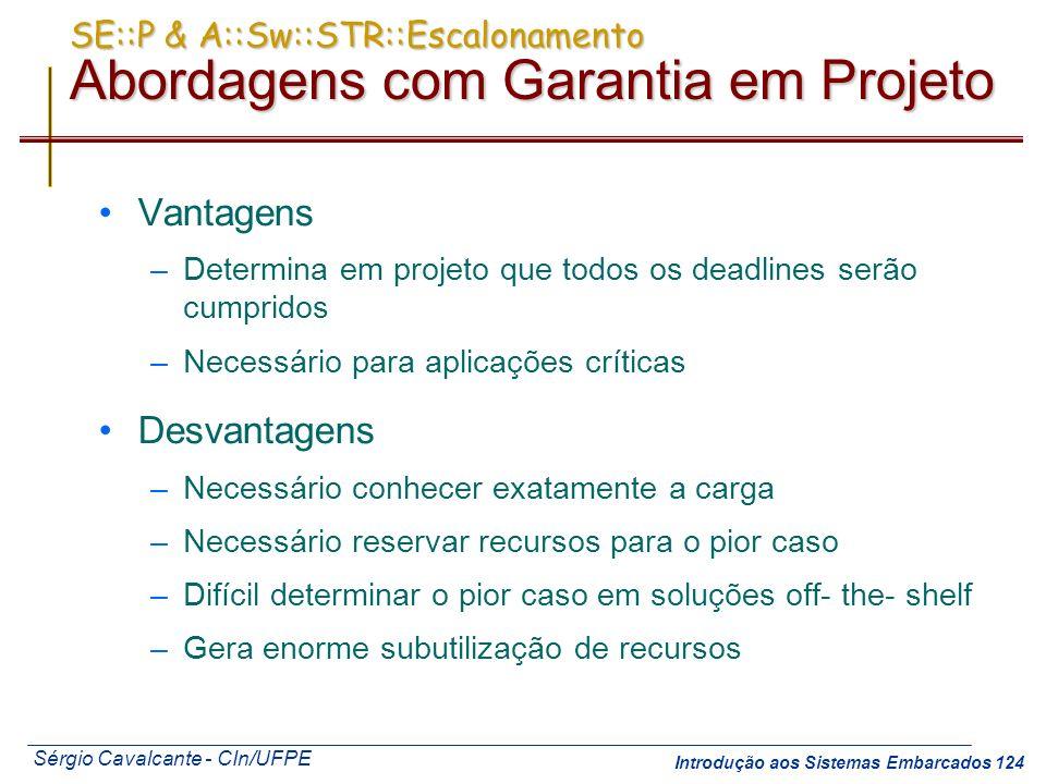 SE::P & A::Sw::STR::Escalonamento Abordagens com Garantia em Projeto