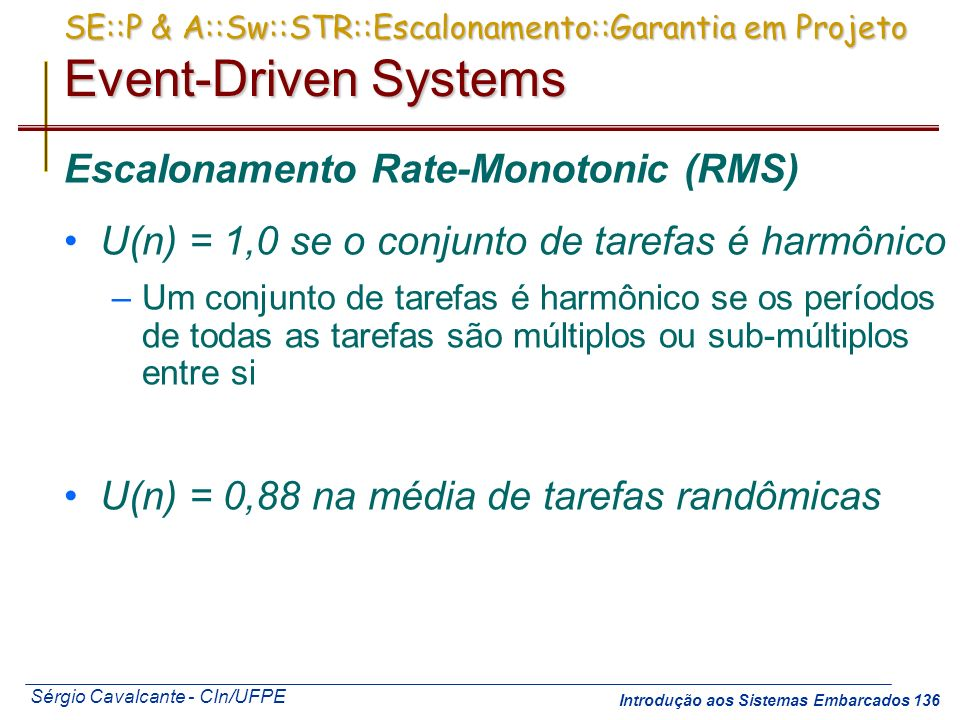 Escalonamento Rate-Monotonic (RMS)