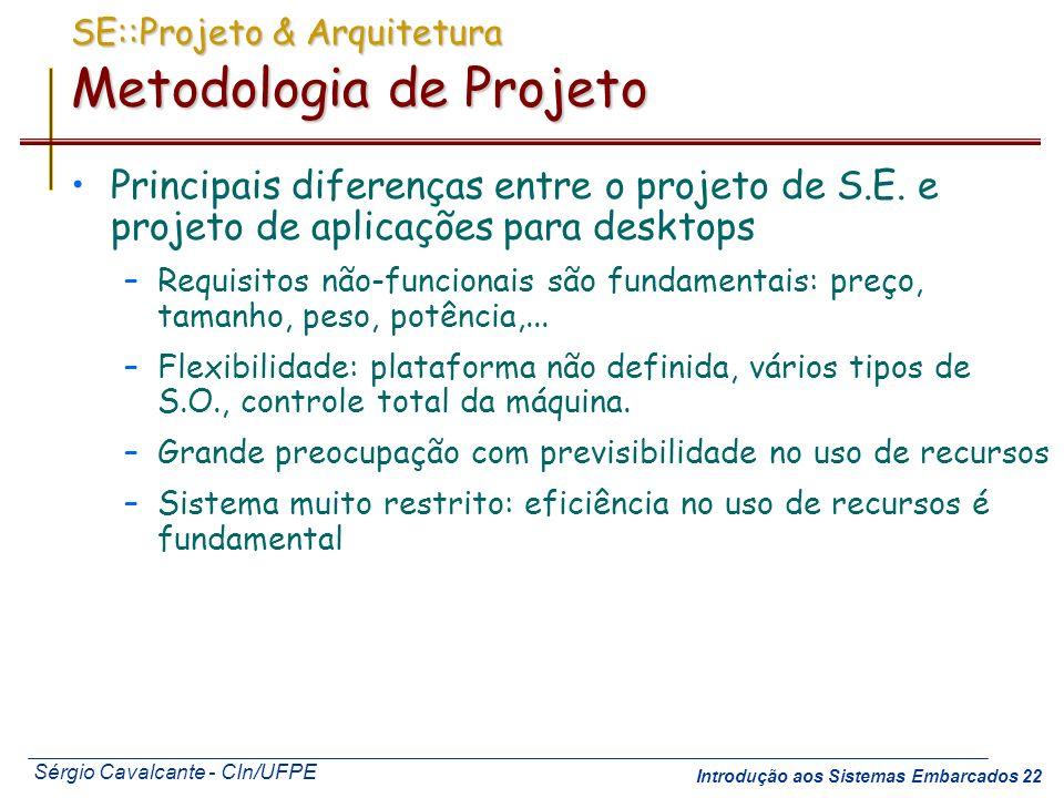 SE::Projeto & Arquitetura Metodologia de Projeto