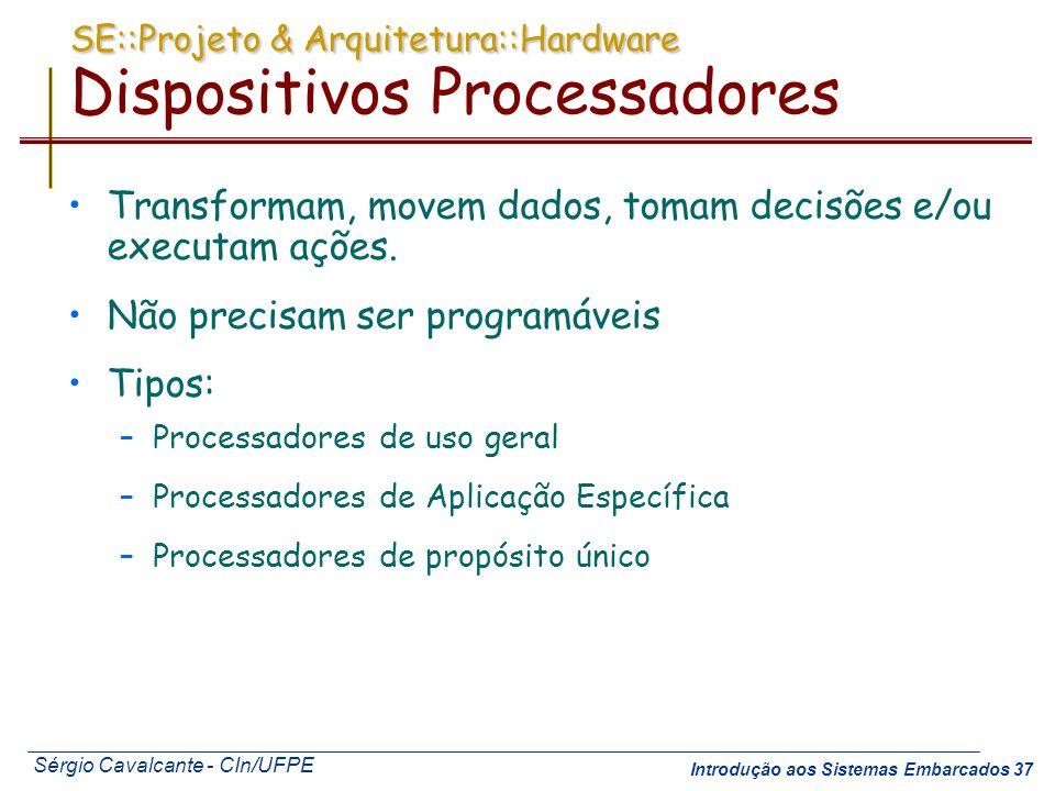 SE::Projeto & Arquitetura::Hardware Dispositivos Processadores