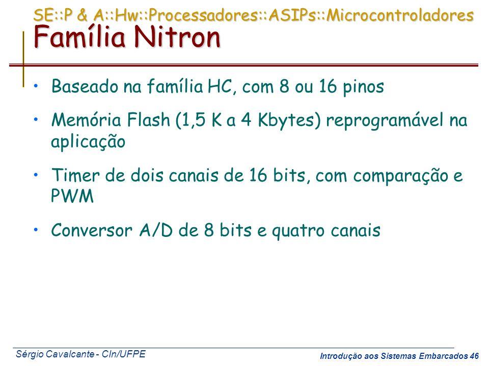 SE::P & A::Hw::Processadores::ASIPs::Microcontroladores Família Nitron