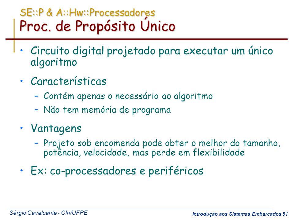 SE::P & A::Hw::Processadores Proc. de Propósito Único