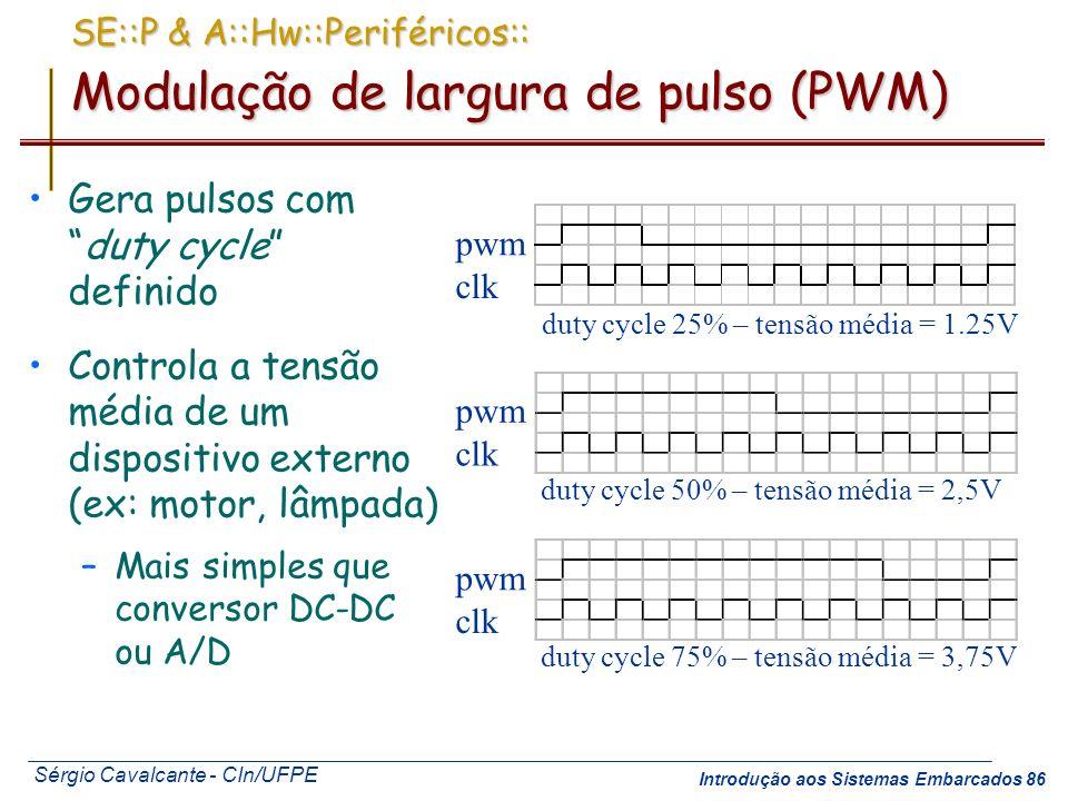 SE::P & A::Hw::Periféricos:: Modulação de largura de pulso (PWM)