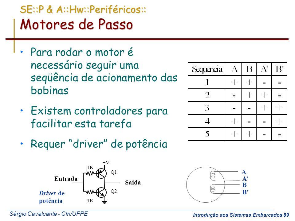 SE::P & A::Hw::Periféricos:: Motores de Passo