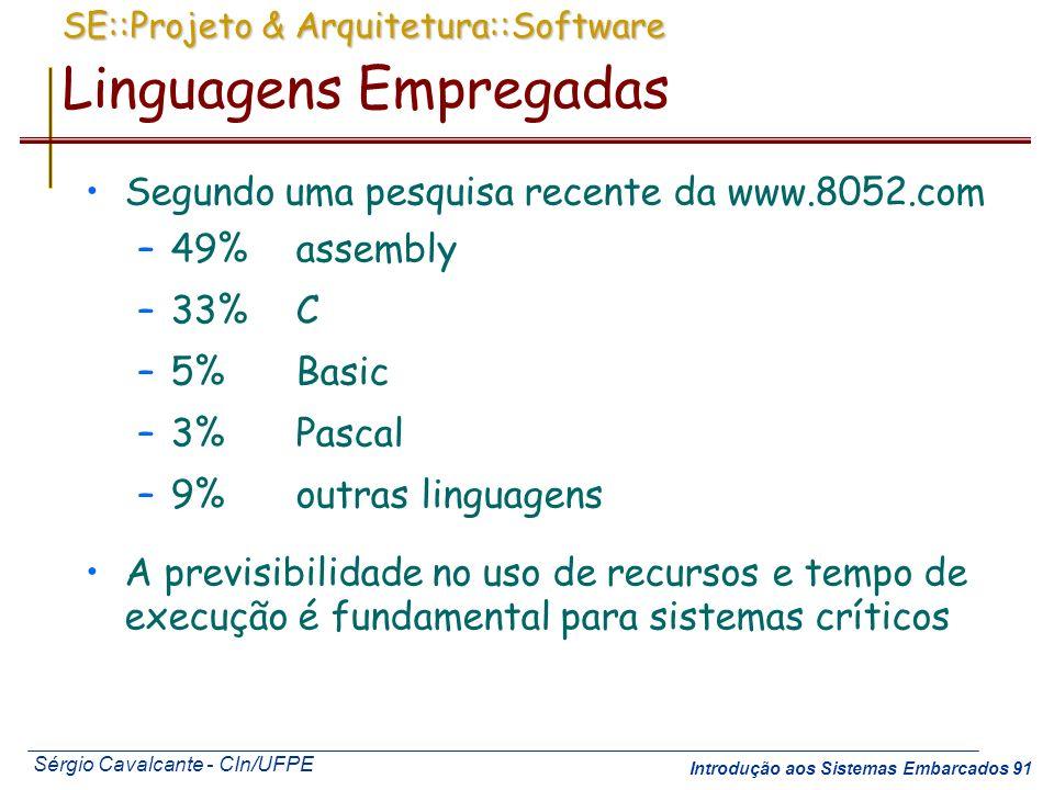 SE::Projeto & Arquitetura::Software Linguagens Empregadas