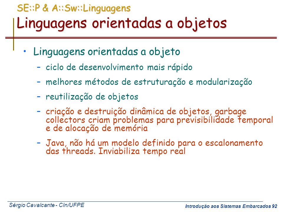 SE::P & A::Sw::Linguagens Linguagens orientadas a objetos