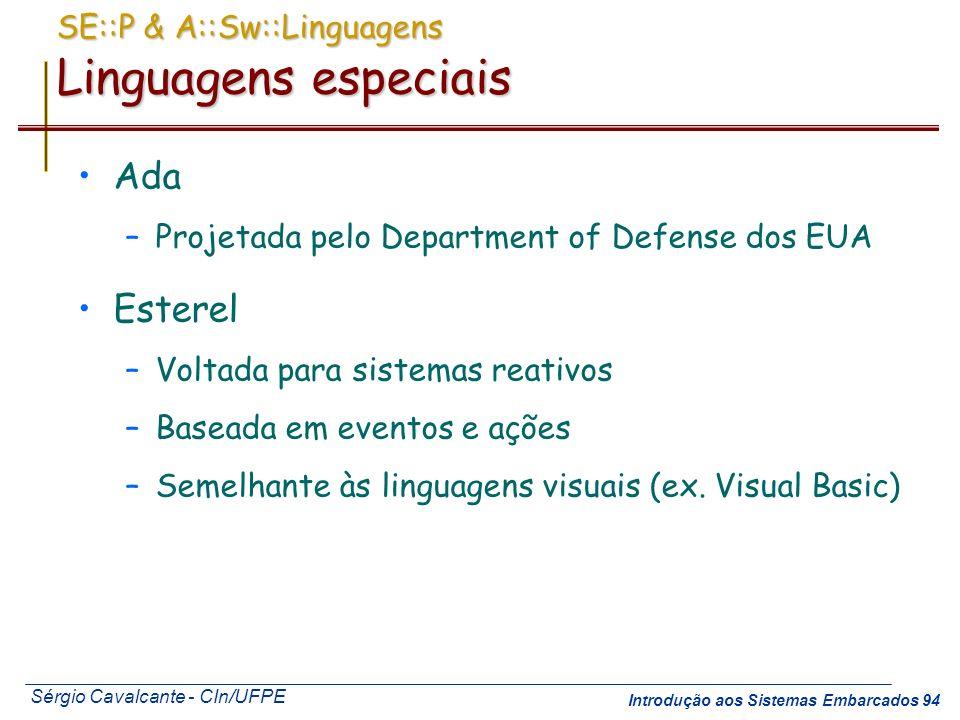 SE::P & A::Sw::Linguagens Linguagens especiais