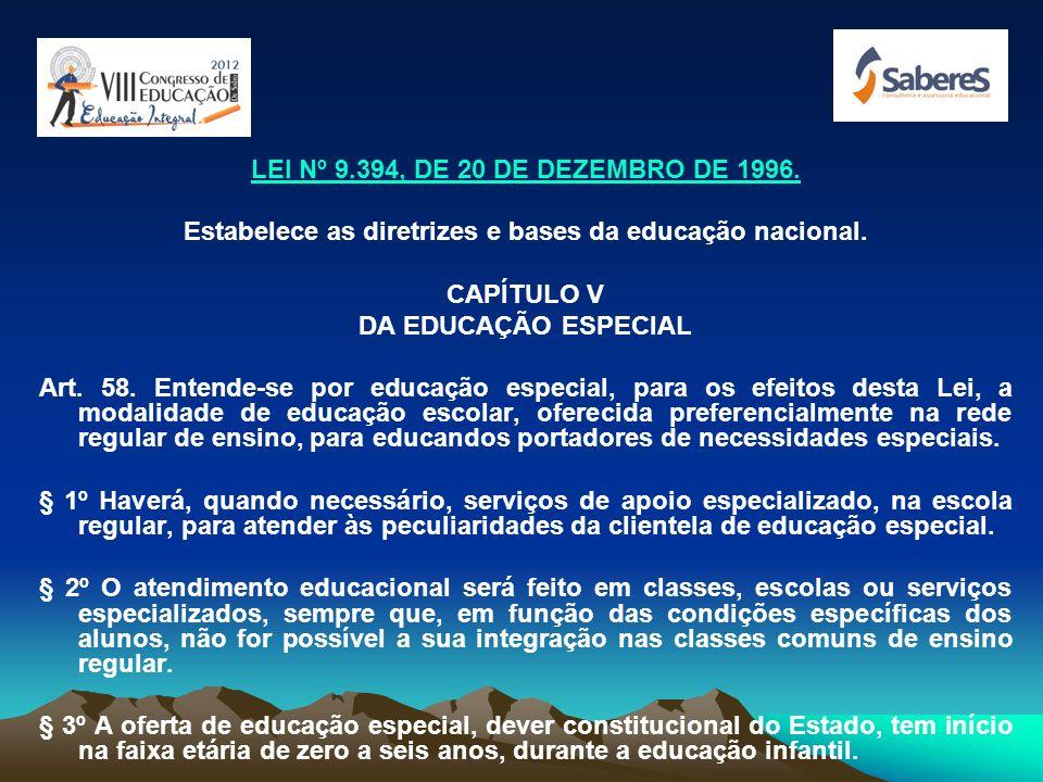Estabelece as diretrizes e bases da educação nacional.