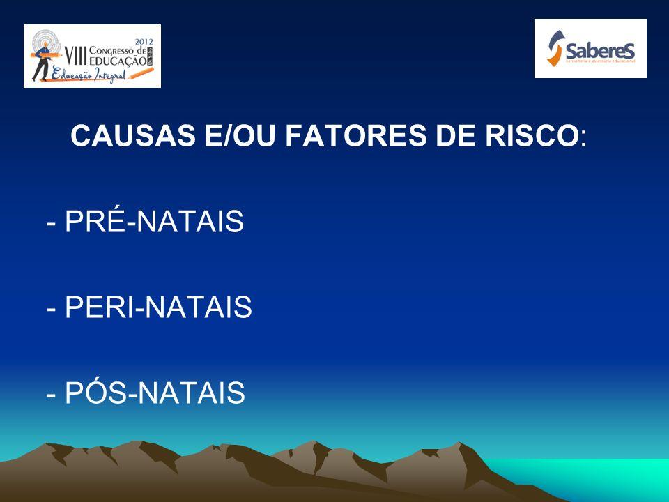 CAUSAS E/OU FATORES DE RISCO: