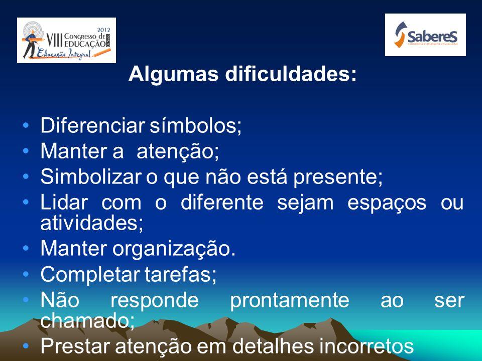 Algumas dificuldades: