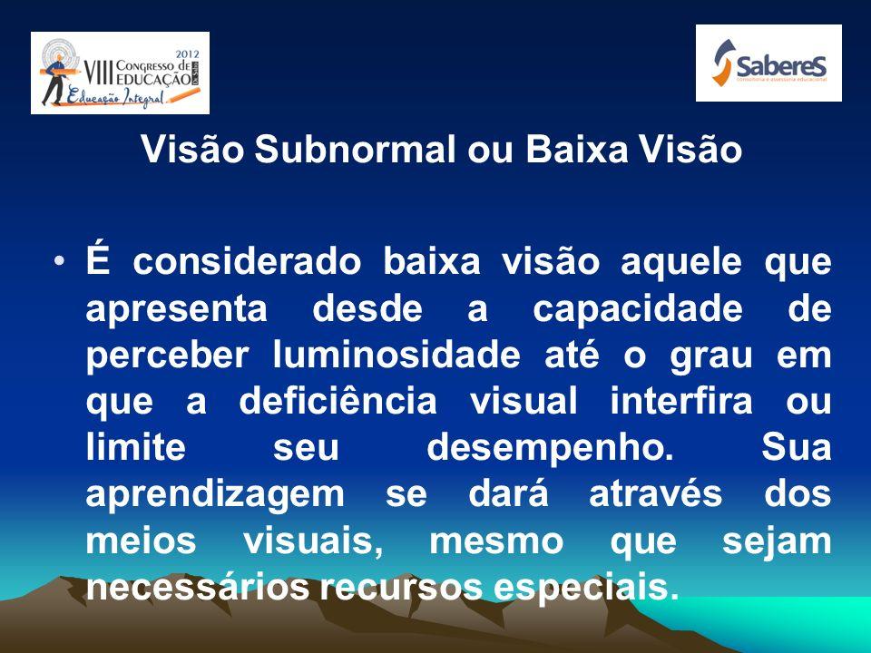 Visão Subnormal ou Baixa Visão