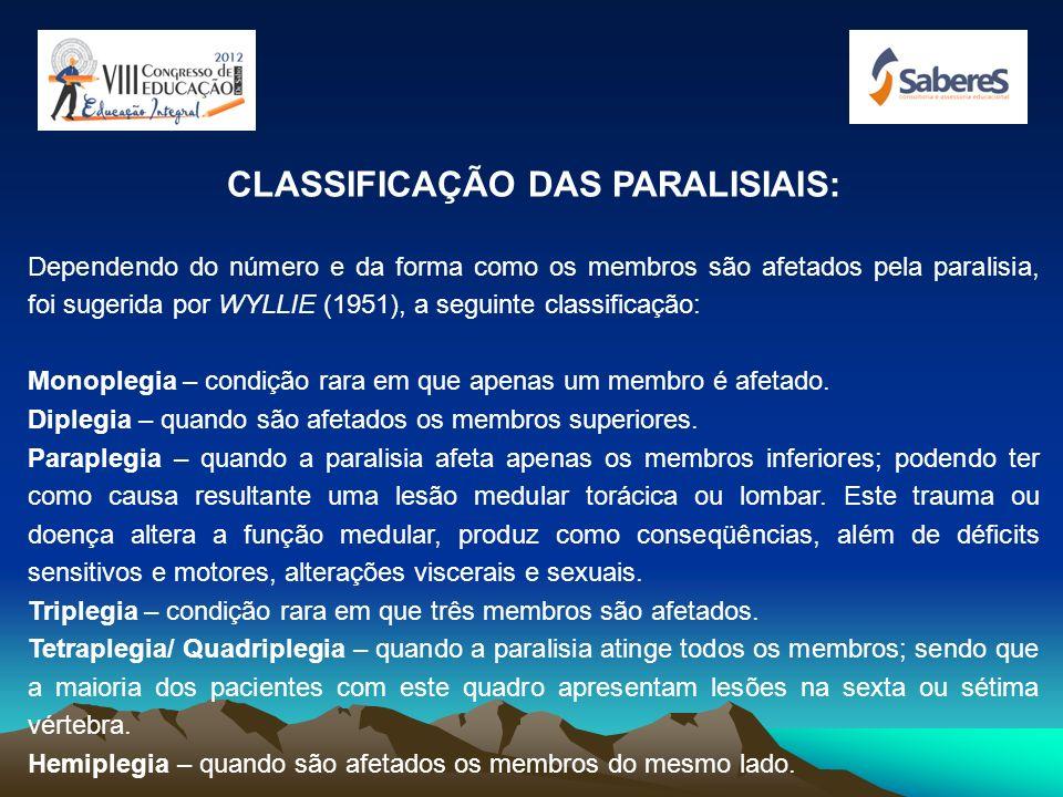 CLASSIFICAÇÃO DAS PARALISIAIS: