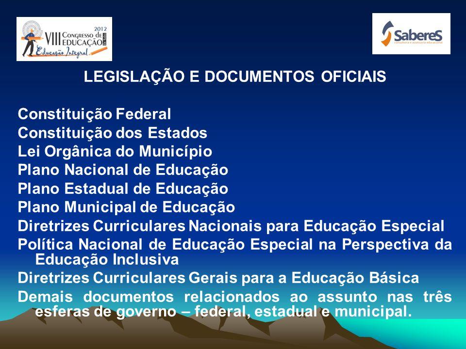 LEGISLAÇÃO E DOCUMENTOS OFICIAIS