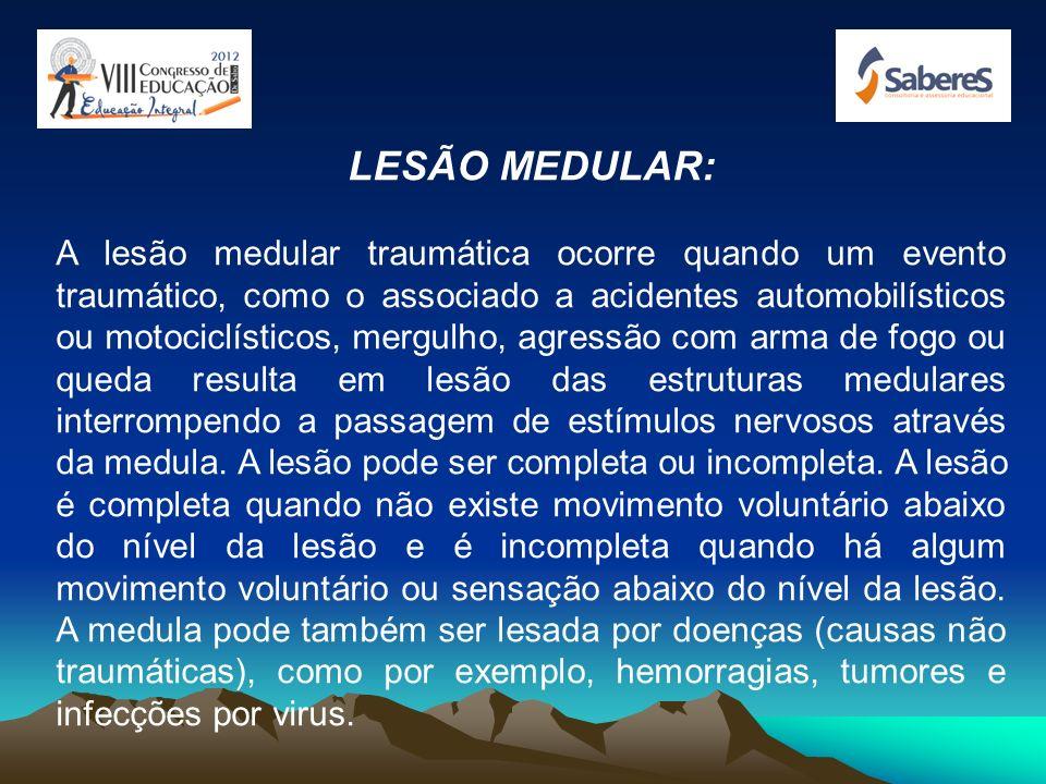 LESÃO MEDULAR: