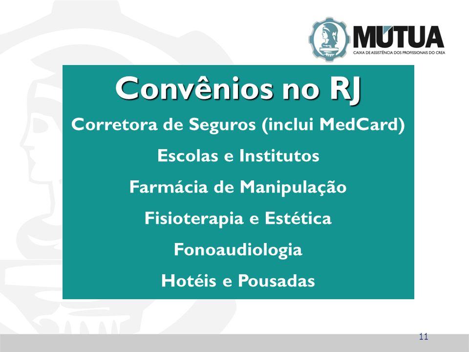 Convênios no RJ Corretora de Seguros (inclui MedCard)