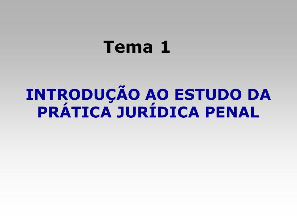 INTRODUÇÃO AO ESTUDO DA PRÁTICA JURÍDICA PENAL