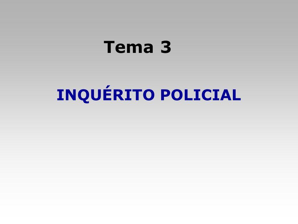 Tema 3 INQUÉRITO POLICIAL