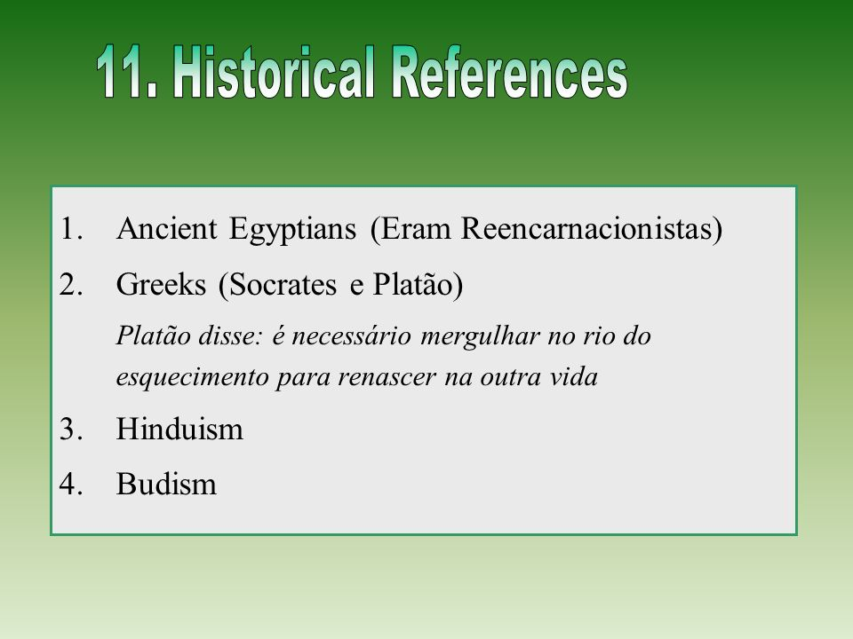 11. Historical References