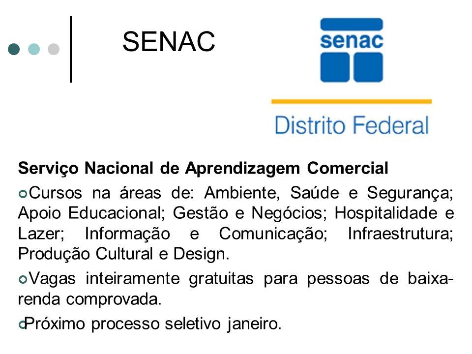 SENAC Serviço Nacional de Aprendizagem Comercial