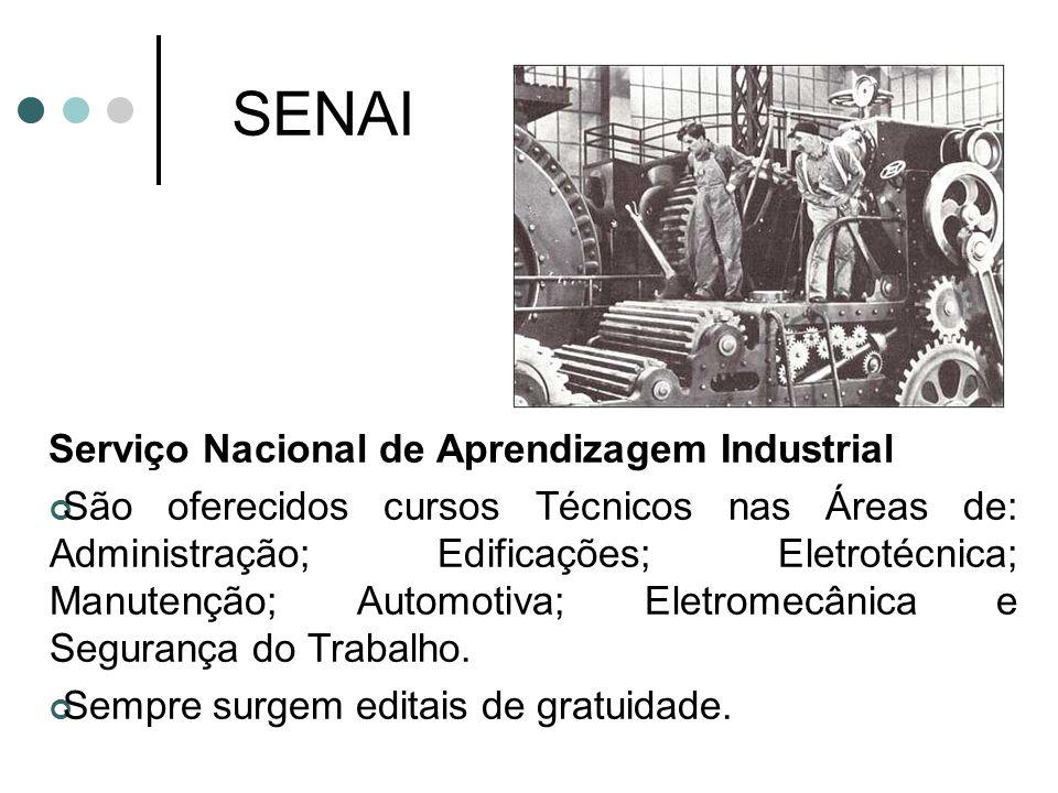 SENAI Serviço Nacional de Aprendizagem Industrial