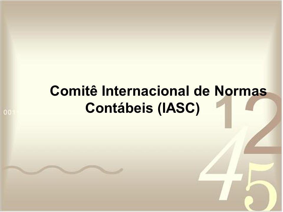 Comitê Internacional de Normas Contábeis (IASC)
