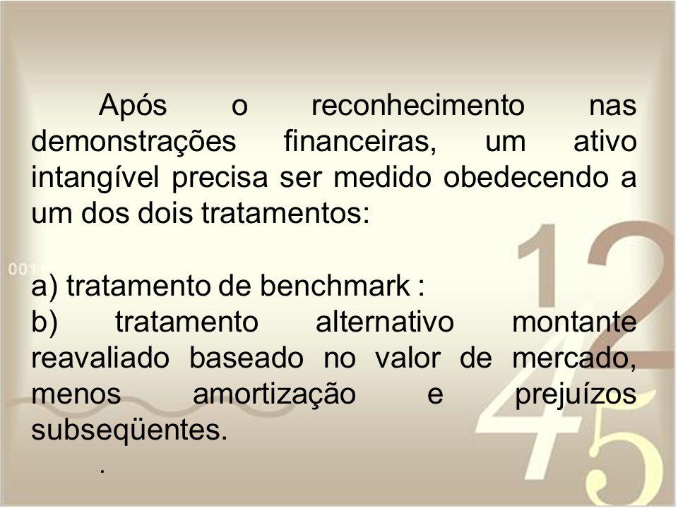 a) tratamento de benchmark :