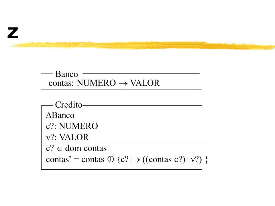 Z Banco contas: NUMERO  VALOR Credito Banco c : NUMERO v : VALOR