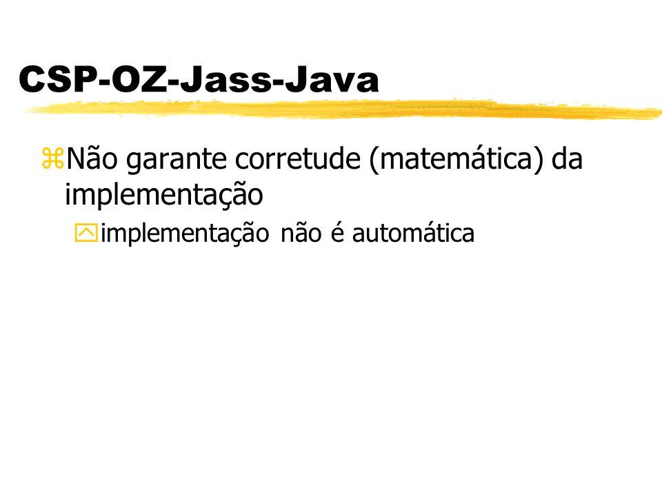 CSP-OZ-Jass-Java Não garante corretude (matemática) da implementação