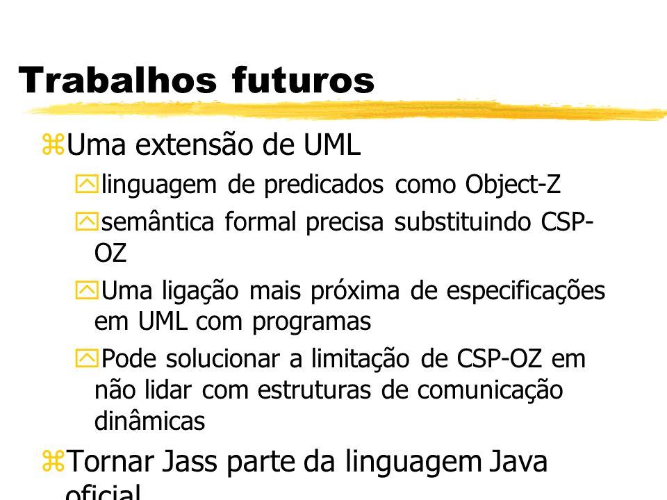 Trabalhos futuros Uma extensão de UML