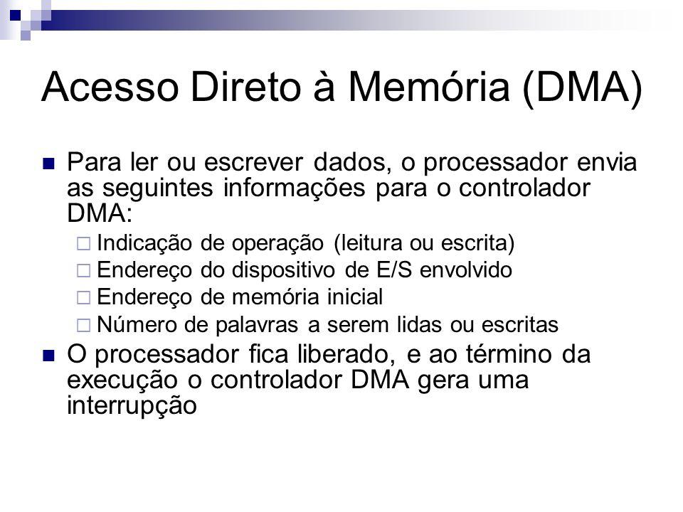 Acesso Direto à Memória (DMA)