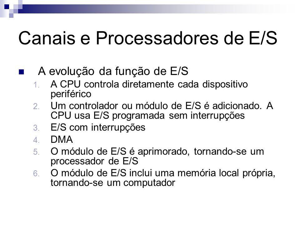 Canais e Processadores de E/S