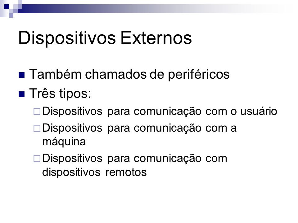 Dispositivos Externos