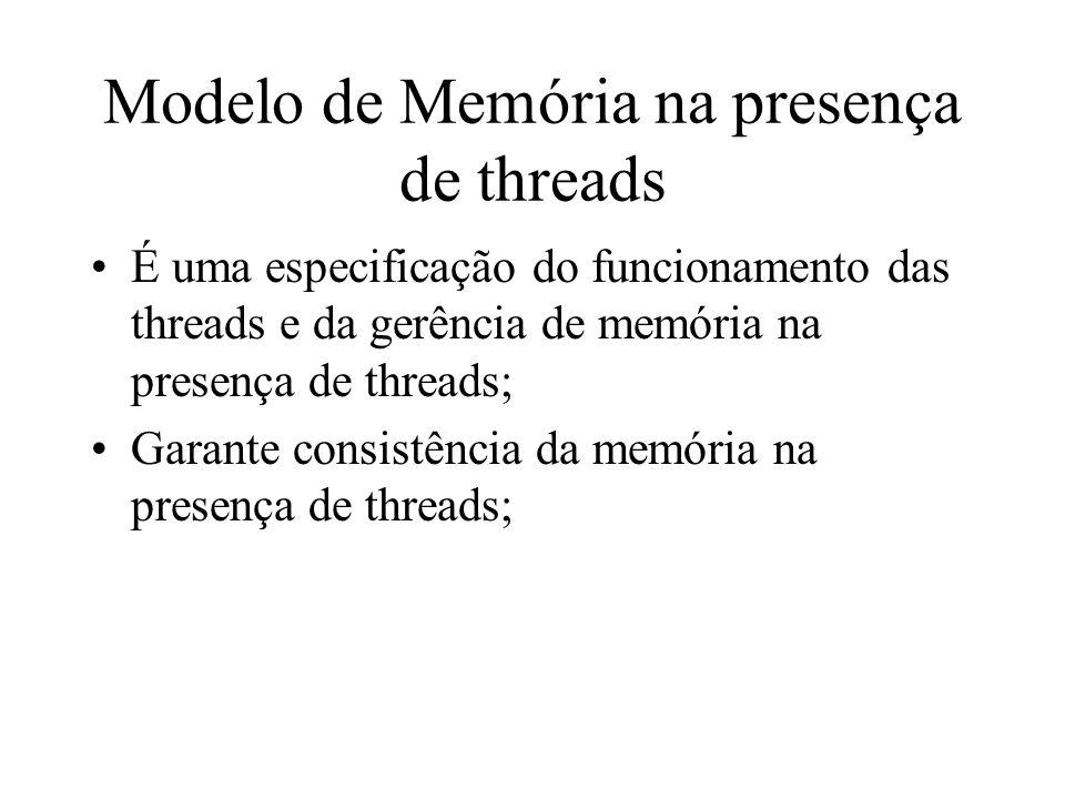 Modelo de Memória na presença de threads