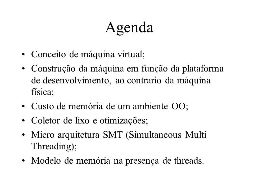 Agenda Conceito de máquina virtual;