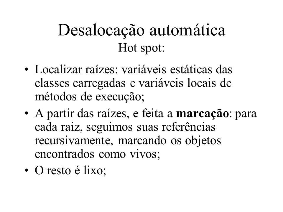 Desalocação automática Hot spot: