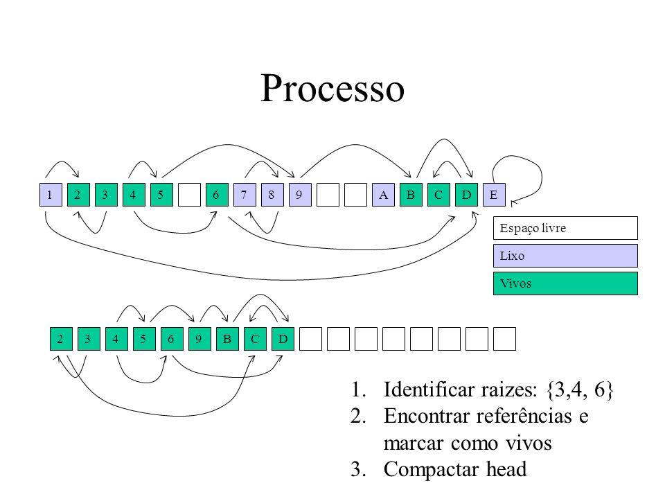 Processo Identificar raizes: {3,4, 6}
