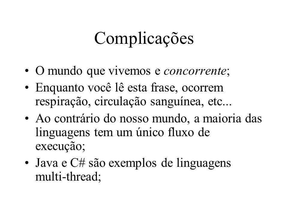 Complicações O mundo que vivemos e concorrente;
