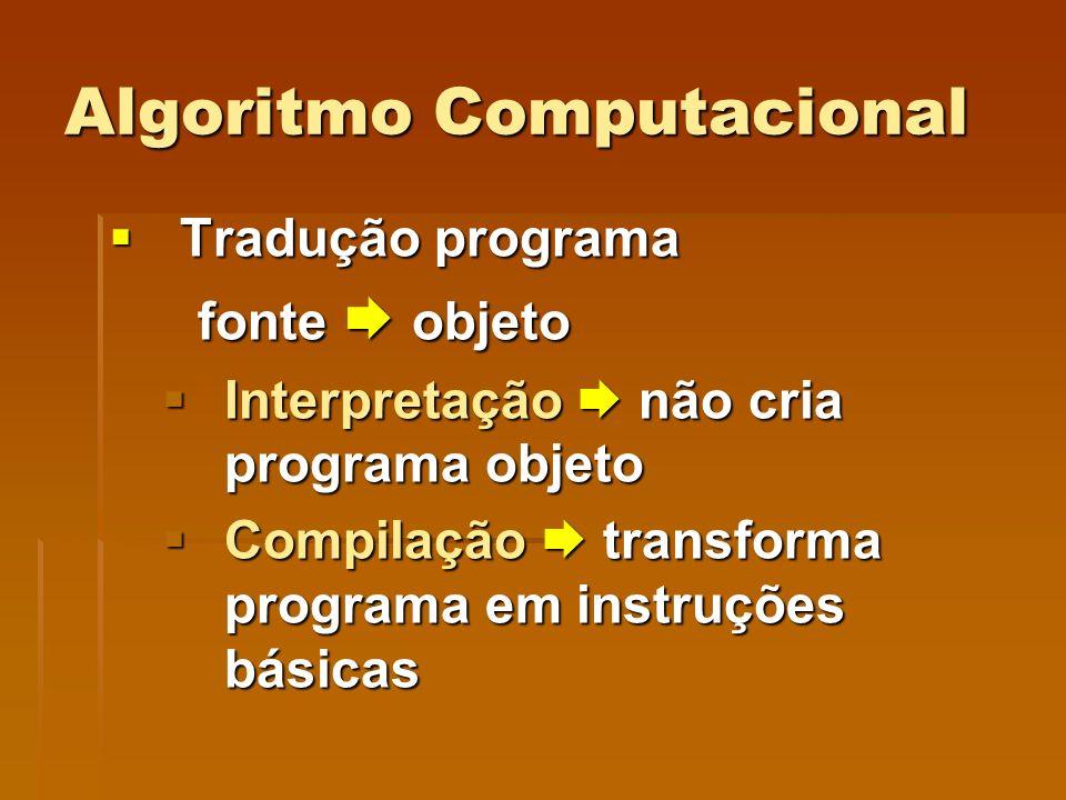 Algoritmo Computacional