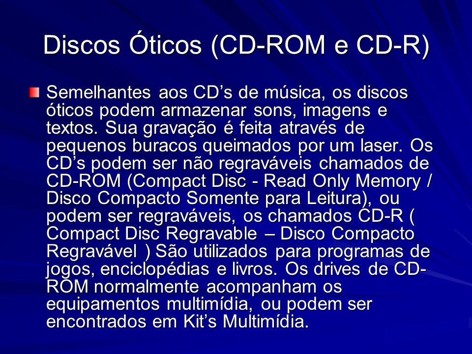 Discos Óticos (CD-ROM e CD-R)