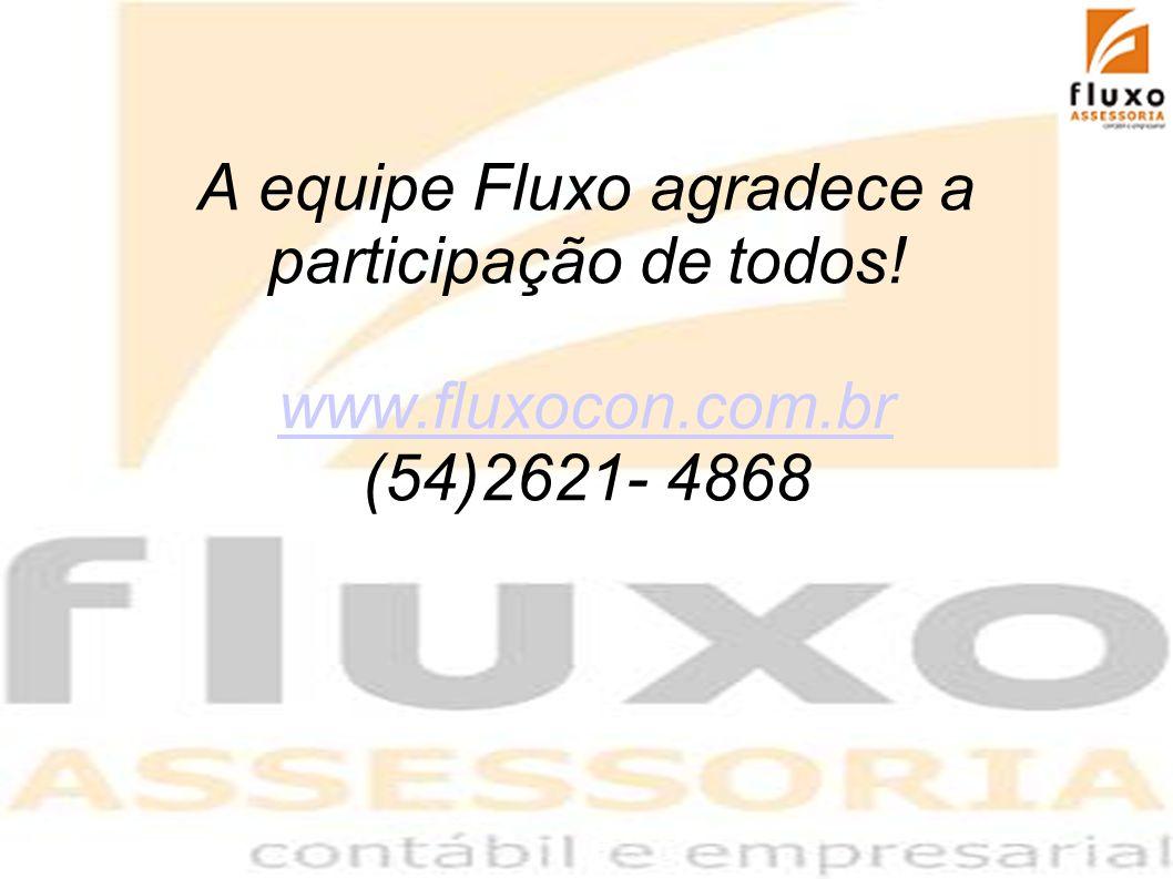 3636 3636 A equipe Fluxo agradece a participação de todos! www.fluxocon.com.br (54)2621- 4868