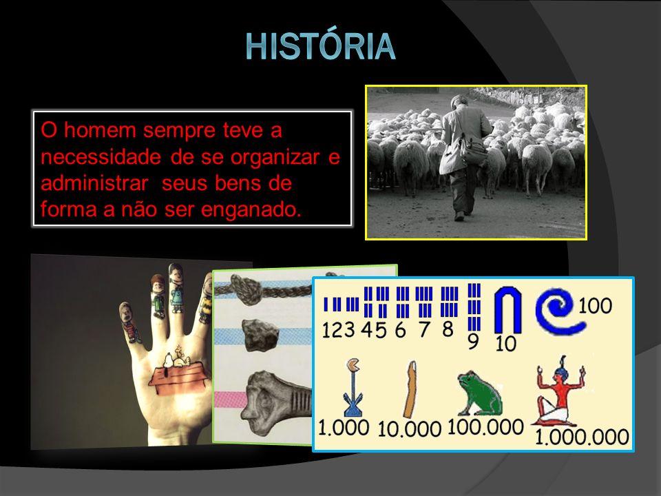 história O homem sempre teve a necessidade de se organizar e administrar seus bens de forma a não ser enganado.